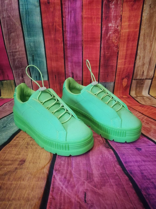 flo green trainers