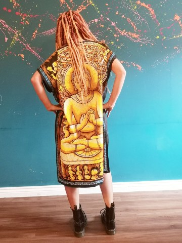 buddha dress back